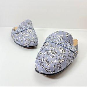 Sam Edelman 8 38 Blue Floral Mule Flat Loafer